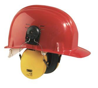 Casque antibruit avec adapteur pour casque de chantier