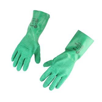 Gants latex crêpé vert standard 32 cm taille 10